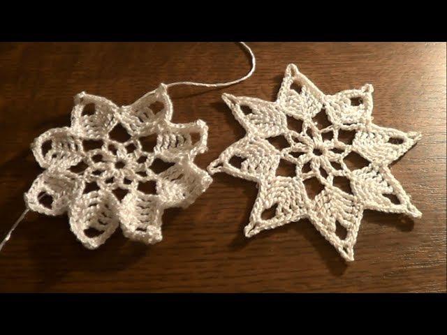 Gwiazdka na szydełku - ozdoby świąteczne
