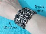Pasta polimerica  Polymer clay tutorial bracciale etnico  ethnic bracelet