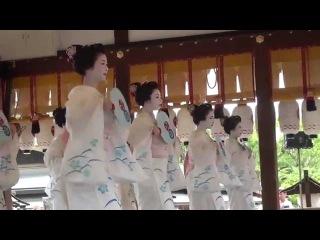2015 祇園祭 花傘巡行 3 宮川町 「コンチキ踊」 舞妓さん 奉納舞踊 2015年7月24日
