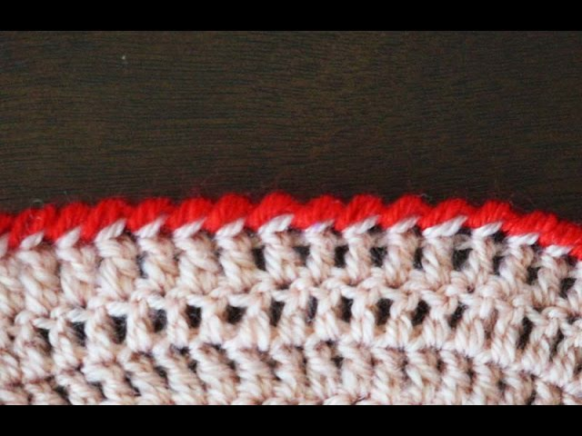 Обвязка края рачий шаг (классический) / Reverse single crochet