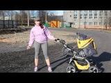 Фитнес с коляской  Разминка. Fitness with a pram. Warm-up.