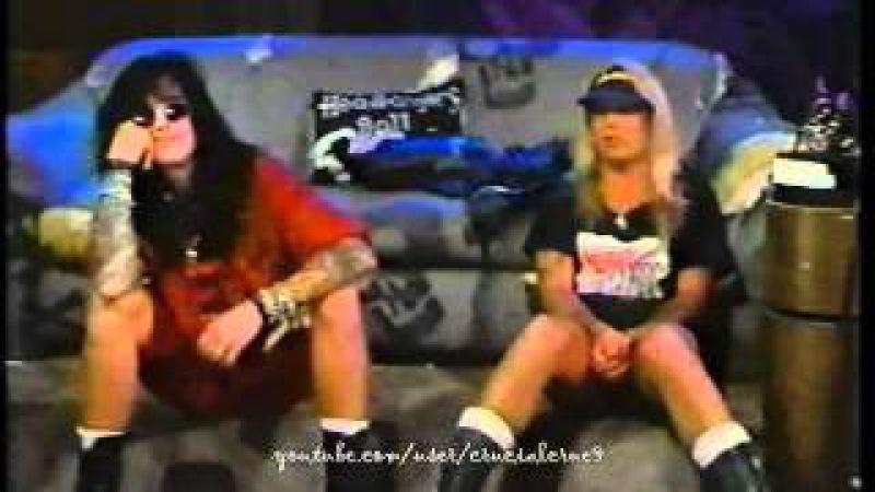 Nikki Sixx Vince Neil host Headbanger's Ball