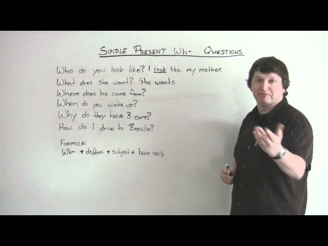English Grammar Present Simple WH QUESTIONS