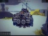 (Besiege) танк+вертолет+бетмемобиль в одной модели