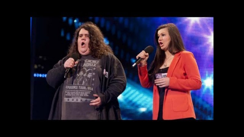 Opera duo Charlotte Jonathan - Britain's Got Talent 2012 audition - UK version