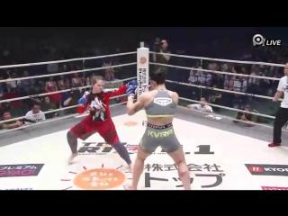 RIZIN 1 - Gabi Garcia vs Anna Malyukova Габи Гарсия против Анны Малюковой MMA 4_17