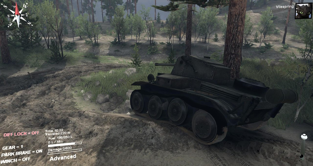 Mk. VII Tetrarch (A17) Light Tank 1.0 для Spintires - Скриншот 1