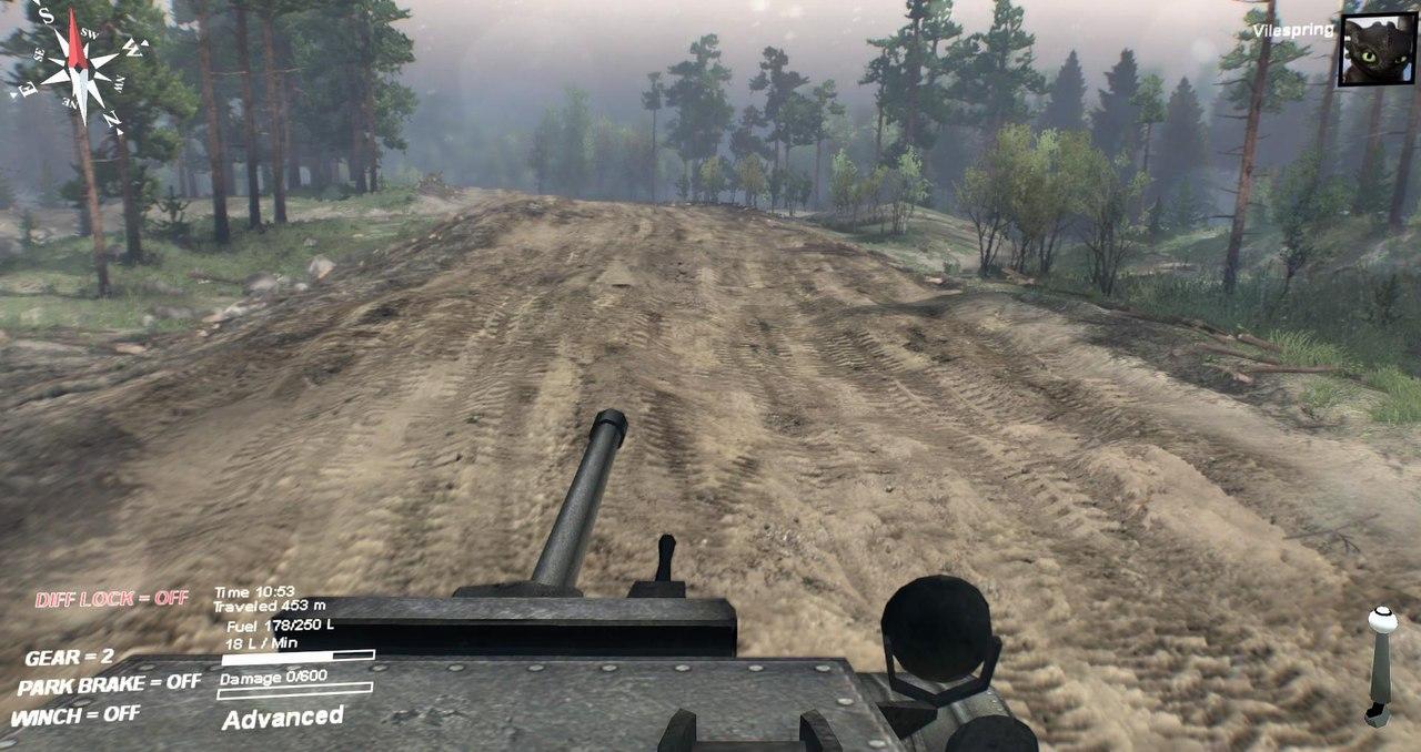 Mk. VII Tetrarch (A17) Light Tank 1.0 для Spintires - Скриншот 3
