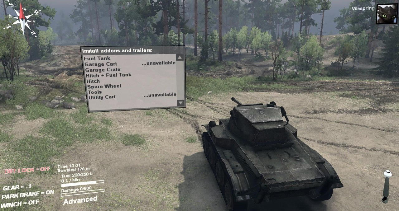 Mk. VII Tetrarch (A17) Light Tank 1.0 для Spintires - Скриншот 2