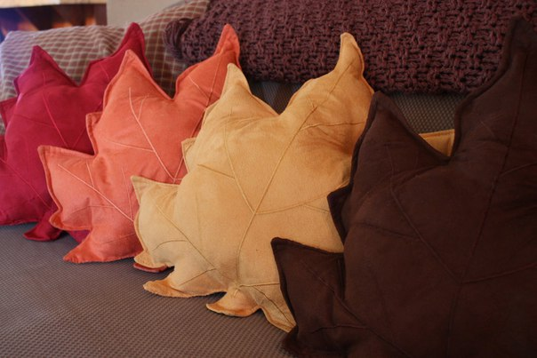 Подушки - листья