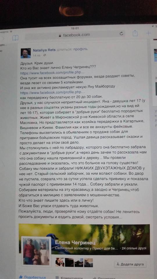 Под Киевом задержаны супруги-живодеры, до смерти пытавшие животных. ЖИВОДЕРКА И РАЗВЕДЕНКА ЯНА МАЙБОРОДА. A6Md6NUbC_o