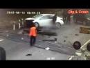 Дтп на жд переезде. в пос. Высокий. Авария на рельсах. Road accident on a railway crossing.