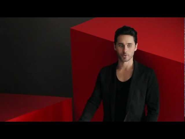 Jared Leto Backstage of Hugo Boss Red Perfume