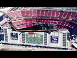 Super Bowl 50 – CBP Helicopter Fly Over Levi's Stadium