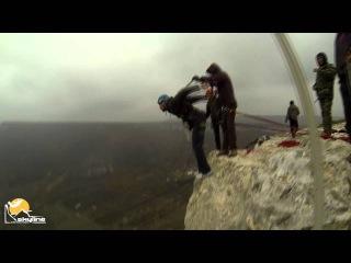 Леша 5 грот Качи-Кальона роупджампинг в Крыму с командой Скайлайн