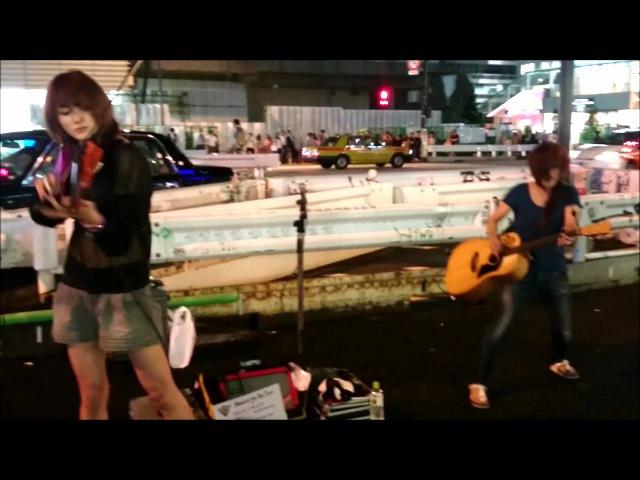 Amazing Street Rock Violinist Ayasa sword of the far east