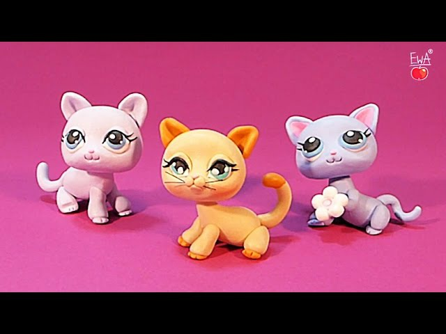 LPS shorthair cat KOTEK tutorial polymer clay z modeliny