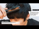 English subtitlesKorean hairstyleStyling Mens Hair with Wax and an Iron - 볼륨감있고 깔끔한 남자 머리 스타일링법