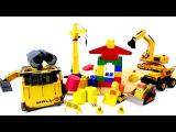 Видео для детей: Робот ВАЛЛИ и строительная техника! Роботы Игрушки! Wall E