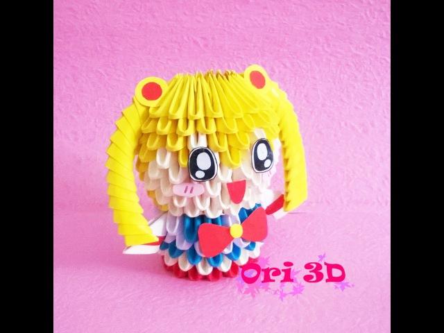 Tutorial Sailor Moon 3D Origami - Hướng dẫn xếp Chibi Thủy thủ Mặt Trăng 3D Origami