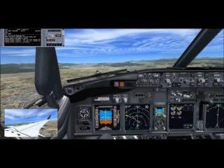 "Виртуальный полёт на новом самолёте Boeing 737 - 800 (EI-RUR) авиакомпании ""Трансаэро"""
