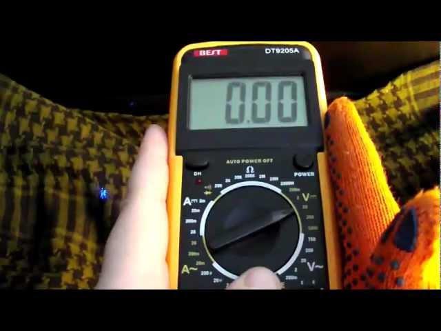 Мультиметр - Multimeter DT 9205A - Как пользоваться мультиметром - как пользоваться тестером.