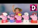 ✿ Свинка Пеппа Обзор на 5 Кейсов Пеппа Принцесса Джордж Пеппа Доктор Peppa Pig Cases New Compilation