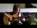 Девушка класно играет на гитаре Nothing Else Matters