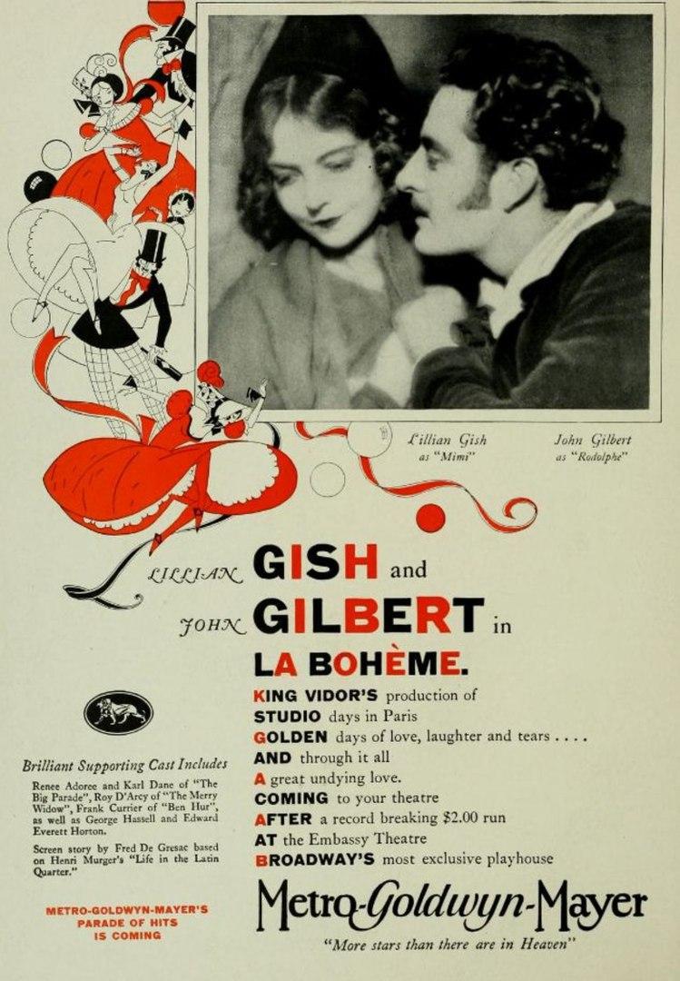 """Афиша Владивосток Драма """"Богема"""" (La boheme, 1926)"""