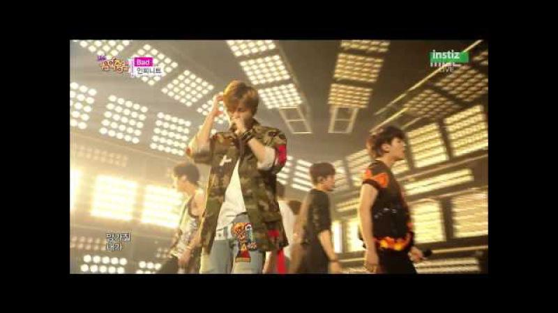 [Live HD 720p] 150718 INFINITE(인피니트) - BAD @ Music Core