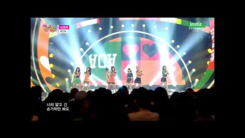 [Live HD 720p] 150718 AOA(에이오에이) - Heart Attack(심쿵해) @ Music Core