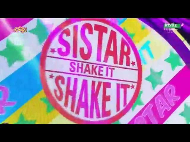 [Live HD 720p] 150718 SISTAR(씨스타) - SHAKE IT(흔들어) @ Music Core