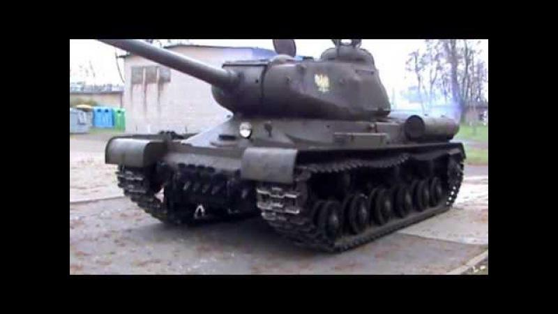 Czołg IS-2 - pierwsza testowa jazda / IS-2 tank - test drive