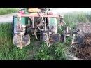 Самодельный трактор. Окучивание картофеля.(SJcam5000)