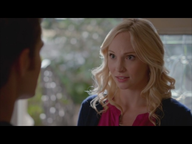 The Vampire Diaries 7x08 Caroline tells Stefan she is pregnant with Alaric's twins Josie and Lizzie