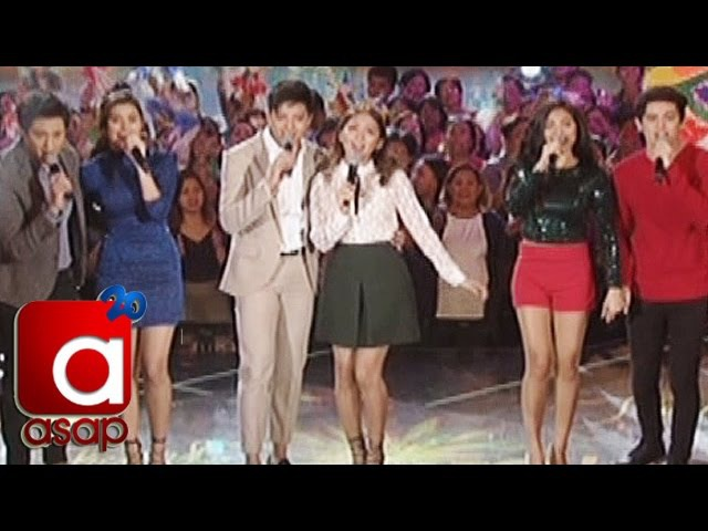 ASAP KathNiel LizQuen JaDine sing Thank You For The Love