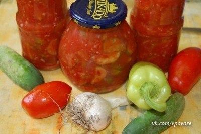 Салат с огурцами Зимняя сказка (4 фото) - картинка
