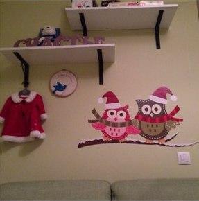 фото наклейки Новый год, фото наклейки праздник, фото наклейки совы