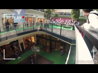 Shopping mall trick shots!   sons of gravity