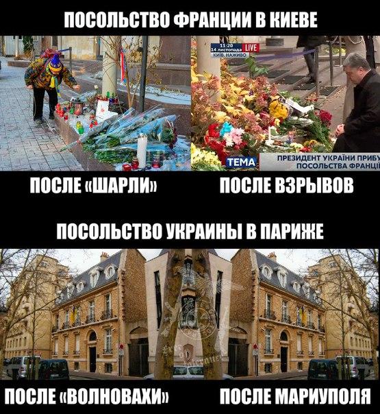 Неравнодушные киевляне несут цветы к посольству Франции - Цензор.НЕТ 8834