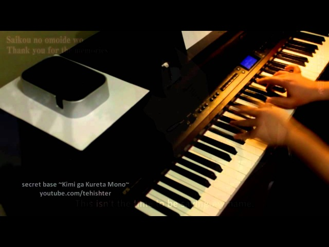 AnoHana ED secret base ~Kimi ga Kureta Mono~ Piano Transcription