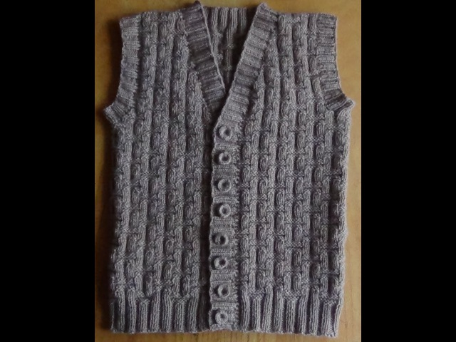 Мужской жилет спицами - Часть 1. Vest knitting for men