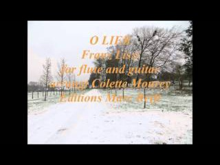 O Lieb Franz Liszt for flute and guitar arrangt Colette Mourey Editions Marc Reift
