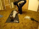 Me mummified in a basement