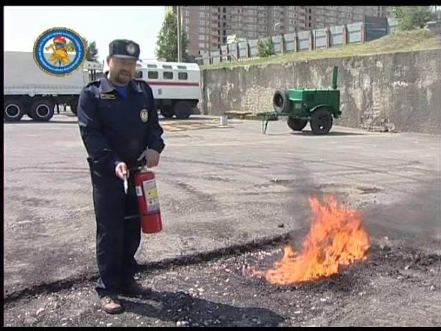 Огнетушители порошковые углекислотный и пенные