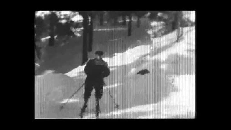 Kong Haakon og Kronprins Olav på ski