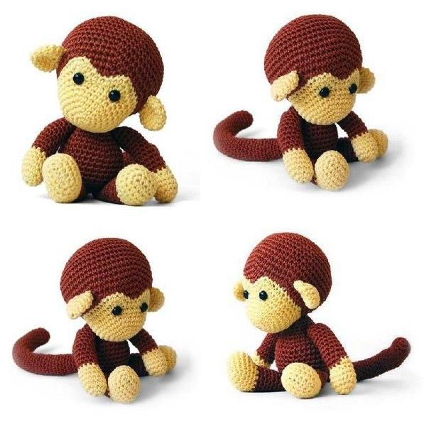#обезьянка #вязание #крючок