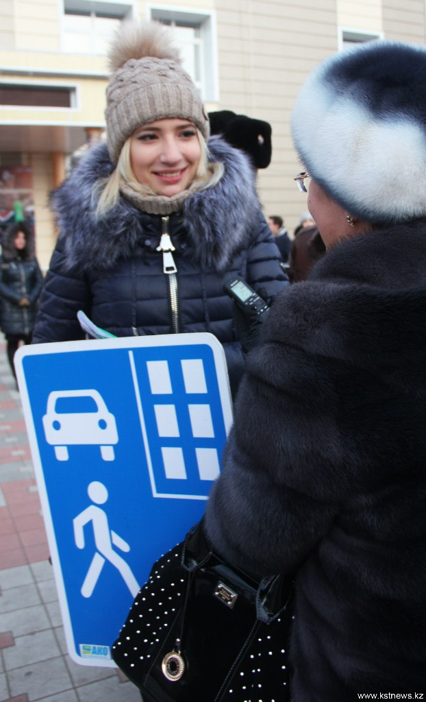 Необычное дефиле прошло сегодня в центре города, на одной из оживленных улиц Алтынсарина.