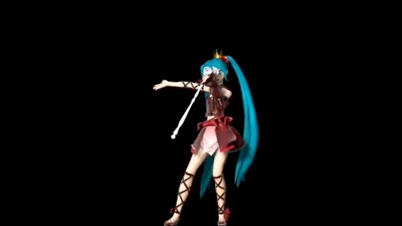 MMD[Hatsune Miku] Romeo Cinderella-holograma en español-(ММД [Hatsune Miku] Ромео Золушки holograma ан испанский)