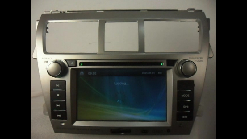 Car DVD Player for Toyota Yaris Sedan 2007-2012 GPS Navigation Auto Radio Stereo Bluetooth TV